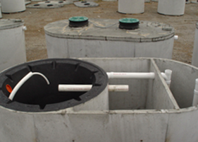 This is a Clearstream aerobic septic system tank.
